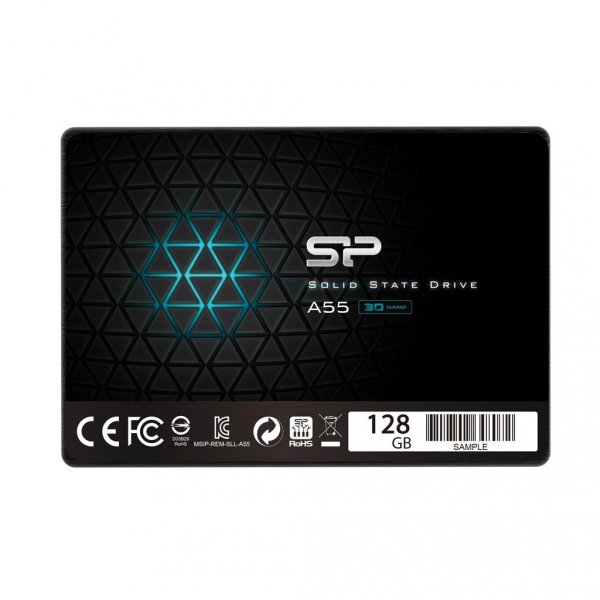Silicon Power Dysk SSD Ace A55 128GB 2.5'', SATA III 6GB/s, 550/420 MB/s, 3DNAND