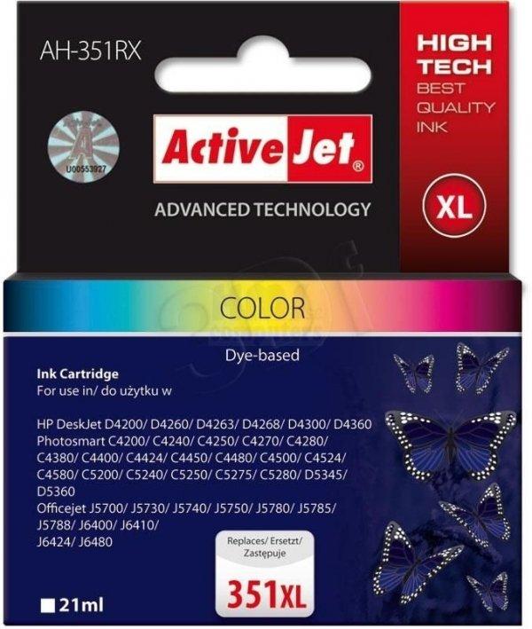 Tusz kolorowy do drukarki HP (zamiennik HP 351XL 21mk, CB338EE) ActiveJet AH-351RX (AH-E38)