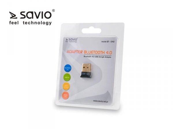 SAVIO BT-040 Adapter komputerowy Bluetooth 4.0