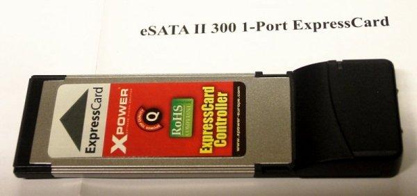 Kontroler eSATA II 300 na ExpressCard