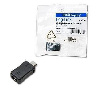 Adapter USB Mini(F) - USB Mikro(M)