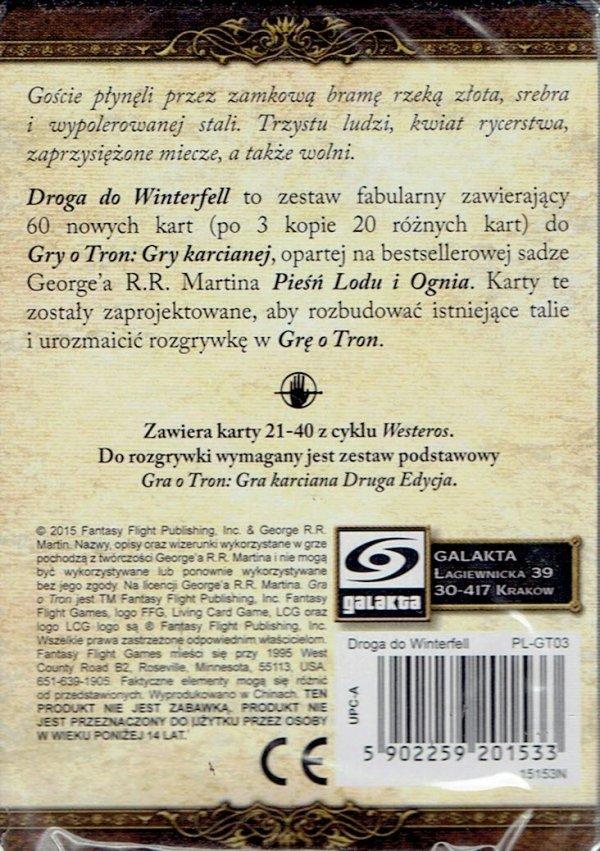 GRA O TRON: GRA KARCIANA 2 ED. CYKL WESTEROS DROGA DO WINTERFELL