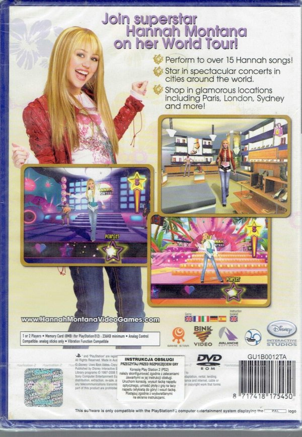 HANNAH MONTANA SPOTLIGHT PS2