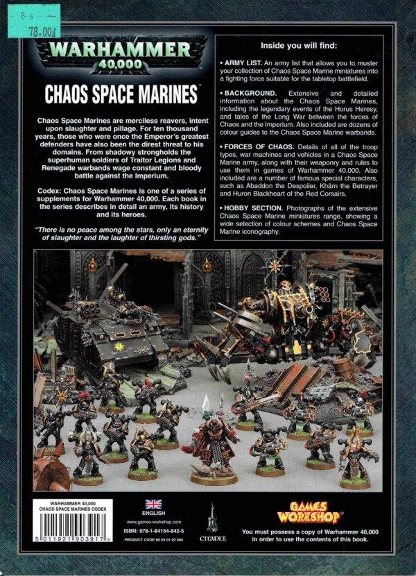 W40k.Codex.Chaos Space Marines.tył okładki