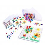 Puzzle pinezki grzybki + nauka szycia zestaw 603el