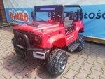 Dwuosobowy JEEP 4x4 12V Terenowe auto na akumulator BBH-0001 Czerwony