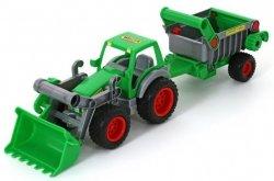 WADER 8718 Traktor-ładowarka z naczepą Farmer-technik
