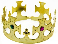 Korona króla wysadzana klejnotami