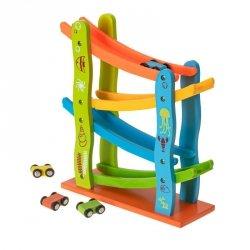 Tor drewniany edukacyjny zjeżdżalnia z samochodami