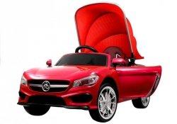 Auto na Akumulator Cabrio z Daszkiem Czerwony