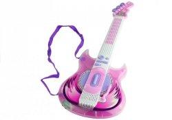 Gitara Elektryczna Okulary z Mikrofonem Zestaw Róż