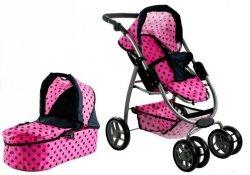 Wózek dla lalek Alice Głęboki, Spacerówka, Gondola 2w1
