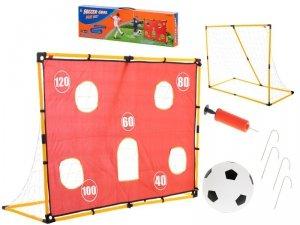 Bramka piłkarska mata treningowa z akcesoriami