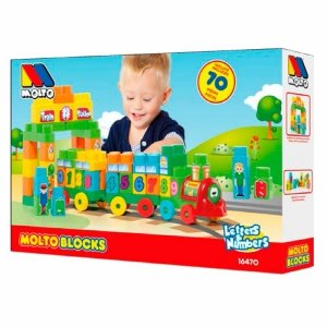 Pociąg z literkami i cyferkami Molto Blocks 70 el.