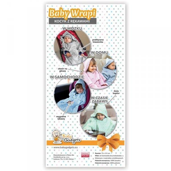 Baby Wrapi - Kocyk z rękawami - Błękitny