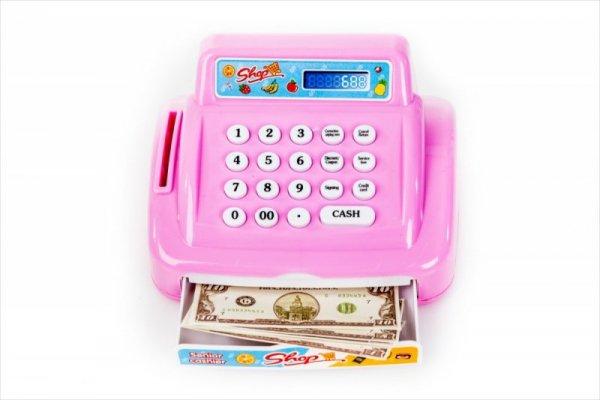 Różowa kasa fiskalna - wysunięta szuflada