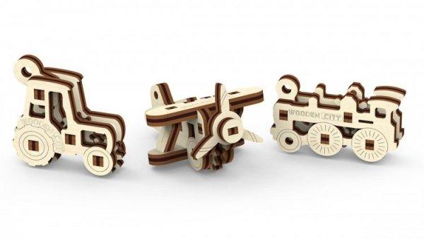 Drewniane puzzle 3D Wooden.City - Gadżety transport #T1