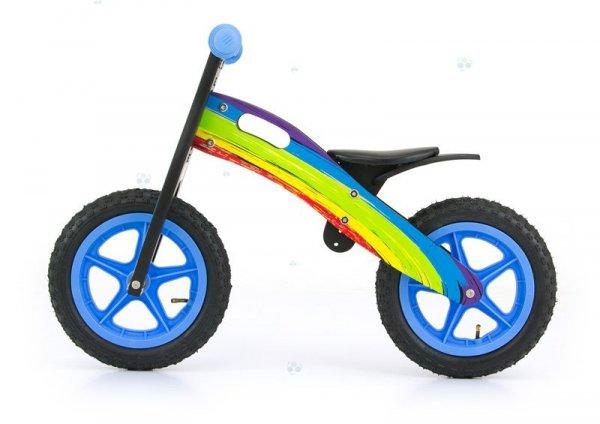 Rowerek biegowy drewniany KING - RAINBOW - radość dla Malucha