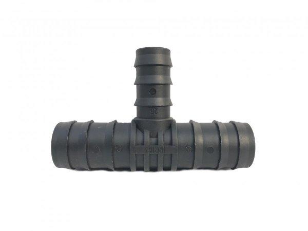 Trójnik plastikowy wciskany redukcja fi 32x25x32 mm