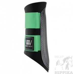 Ochraniacze WOOF WEAR CLUB czarne z miętowym rzepem