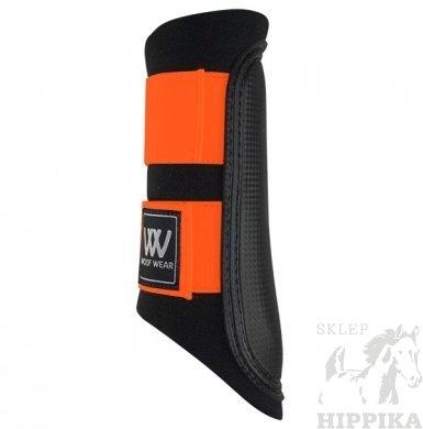 Ochraniacze WOOF WEAR CLUB czarne z pomarańczowym rzepem
