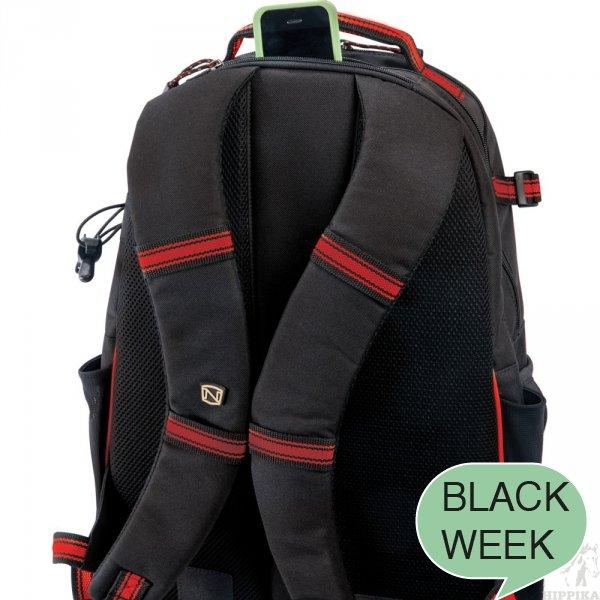 Plecak NOBLE czarno-czerwony