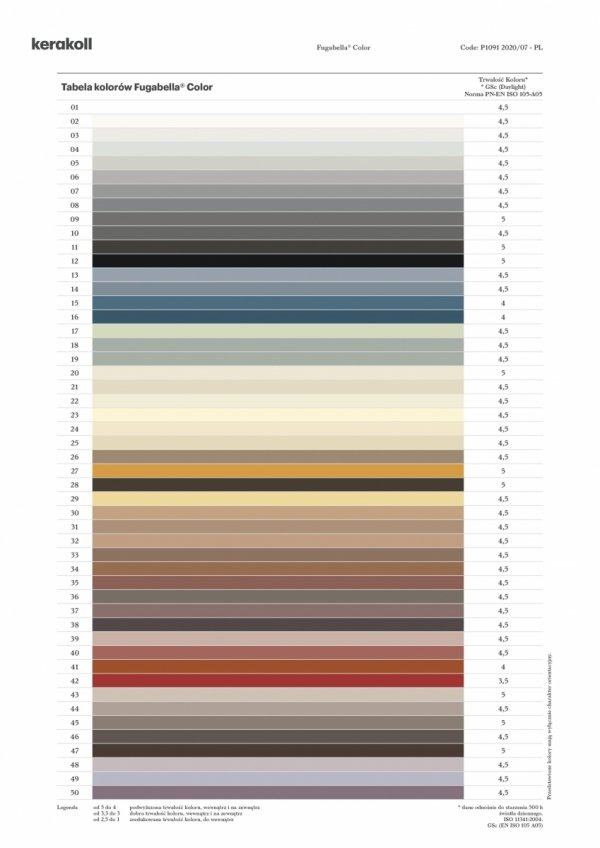 KERAKOLL Fugabella Color Fuga 3 kg Kolor 03