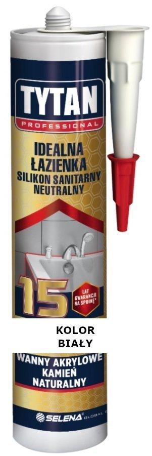 TYTAN Silikon sanitarny neutralny IDEALNA ŁAZIENKA BIAŁY 280 ml
