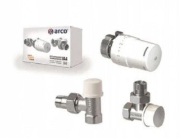 Zestaw grzejnikowy 1/2 kątowy termostatyczny ARCO