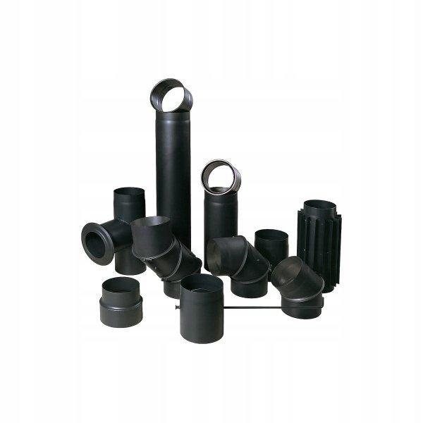 SZYBER SPALINOWY czarny fi 180/250mm 25cm BERTRAMS