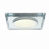 Oczko sufitowe szklane KWADRATOWE. Kolor: SREBRNY