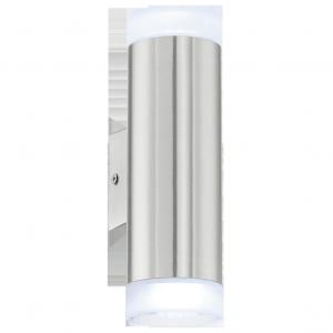 EGLO RIGA-LED 92736 KINKIET ZEWNĘTRZNY TUBA LED STAL NIERDZEWNA GU10 3W