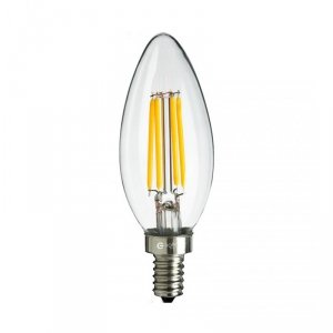 Żarówka Filamentowa LED 6W Świeczka E14 4000K
