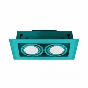 LAMPA PODTYNKOWA BLOCCO TURKUS 2x7W GU10 LED