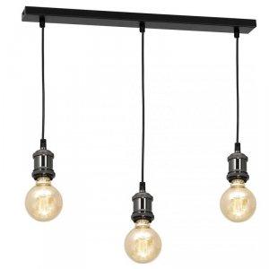 Lampa wisząca EDISON CZARNY/CHROM 3xE27