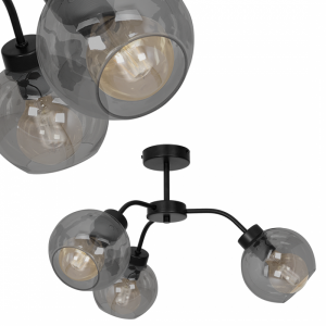 Lampa sufitowa SOFIA SMOKED 3xE27