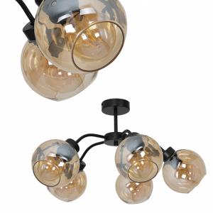 Lampa sufitowa SOFIA AMBER 5xE27