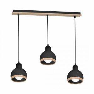 Lampa wisząca OVAL BLACK 3xE27