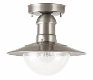LAMPA ZEWNĘTRZNA OGRODOWA PLAFON SATYNOWY CHROM RABALUX 8763 OSLO