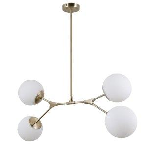 ITALUX CASERTA PND-33245-4 LAMPA WISZĄCA SZKLANE BIAŁE KLOSZE
