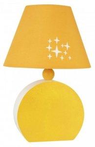 LAMPA STOŁOWA GABINETOWA CANDELLUX OFELIA 41-62478 MDF  E14 POMARAŃCZOWA