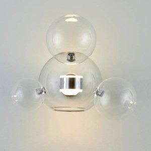 Lampa ścienna BUBBLES -3+1W LED chrom 3000 K