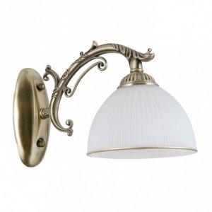 ITALUX FENEZA WL-5122-1 LAMPA KINKIET KLASYCZNY SZKLANY KLOSZ