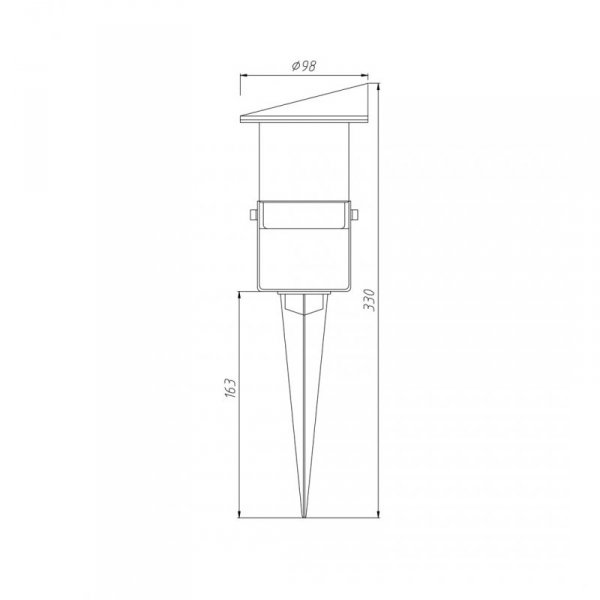 Refelktor Ogrodowy Vilo 1xGU10 IP65