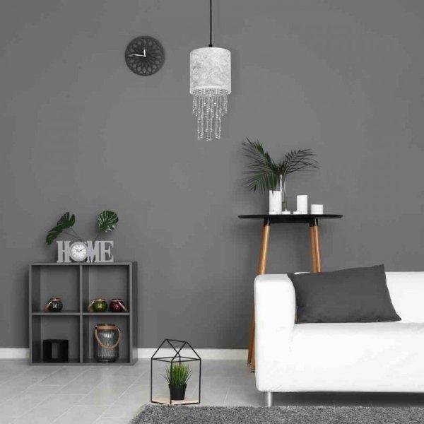 Lampa wisząca ALMERIA SILVER/BLACK 1xE27