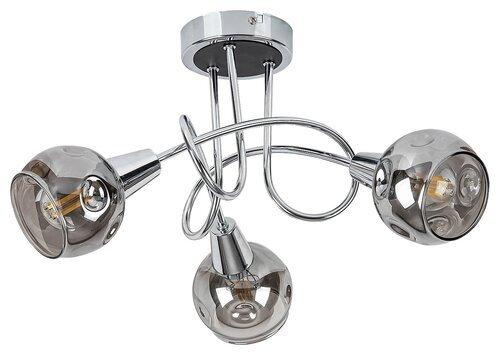 LAMPA SUFITOWA NOWOCZESNA CHROM SZKLANE KLOSZE RABALUX 5348 TAMARA