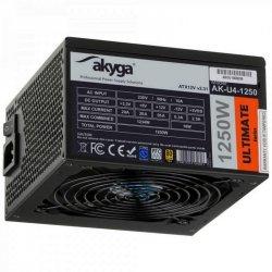 Zasilacz ATX 1250W Akyga Ultimate AK-U4-1250 80+ Gold Fan14cm P8 5xSATA 12xPCI-E