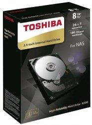 Dysk Toshiba N300 HDWN180EZSTA 3,5' 8TB SATA - NAS