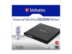 Nagrywarka zewnętrzna Verbatim CD/DVD RW USB 2.0 SLIM