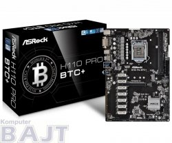 Płyta ASRock H110 Pro BTC+ /H110/DDR4/SATA3/USB3.0/PCIe3.0/s.1151/ATX